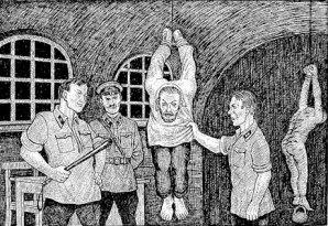 To NKBD ανακρίνει τους προδότες του λαού - Τους ανάγκαζαν με βασανιστήρια να ομολογήσουν την προδοσία και ότι έκαναν κατασκοπία για να εκτελεστούν με πυροβολισμό.